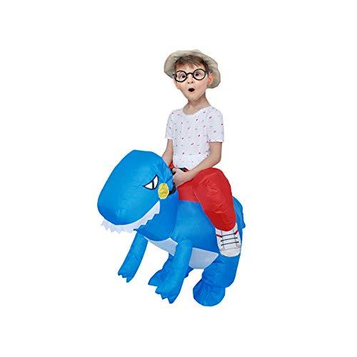 Deanyi Kleinkind Halloween-Kostüm Cosplay Aufblasbare Weihnachten Dinosaurier Aufblasbare Kleidung Karneval-Party-Performance Service ohne Akku blau (Kleinkinder Dinosaurier Halloween-kostüme)