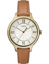 e1e6b782f0ca Timex Reloj Analógico-Digital para Mujer de Cuarzo con Correa en Cuero  TW2R27900