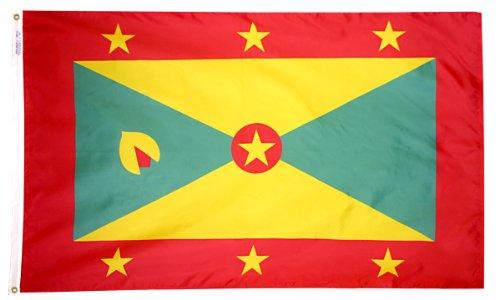 Grenada Flagge 3x 5ft. Nylon solarguard nyl-glo 100% Made in USA zu offiziellen Vereinten Nationen Design Spezifikationen von Annin flagmakers. Modell 192995