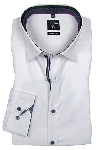 Olymp No.6 Herren Hemd Super Slim Langarm Weiß