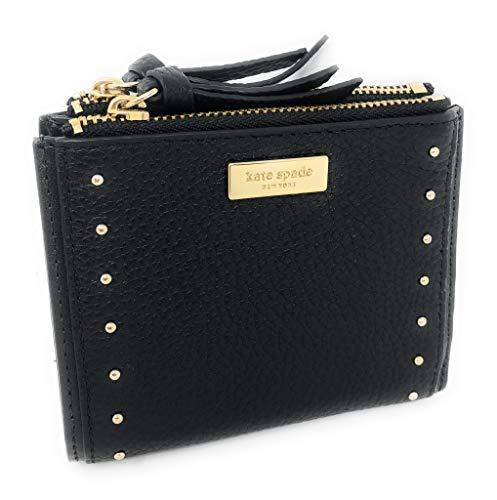Kate Spade Malea West Street - Portafoglio piccolo in pelle con borchie, colore: Nero