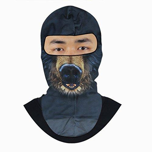 Unisexe Cagoule Tour de Cou Motif 3D Animal Balaclava Homme Femme Masques Cyclisme Anti-poussière Masque Complet Sport Mince Anti-UV/Vent pour Moto Vélo Ski etc. Activités Extérieurs