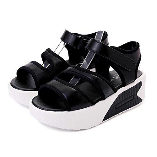 Sommer,flachem absatz,dicken sohlen,damen sandalen/casual muffin schuhe-E Fußlänge=24.3CM(9.6Inch) (Ted Baker-flache Sandalen)