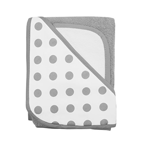 american-baby-company-cotton-terry-hooded-towel-set-grey-dot