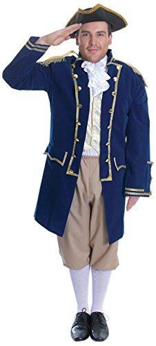 4Admiral der Flotte Kostüm, mehrfarbig, Blumenkasten (Navy Admiral Kind Kostüme)