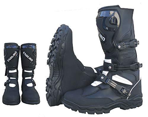 WinNet Stivali stivaletti per moto da turismo pelle con protezio