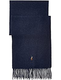 Polo Ralph Lauren Mens Wool Scarf Navy Made In Italy
