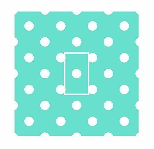 sticar-it LTD mint grün & weiß klein polka dot Muster Lichtschalter Sticker Vinyl Cover Haut Aufkleber für jeden Raum (Tinte Mint)