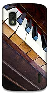 The Racoon Grip piano hard plastic printed back case / cover for LG Nexus 4