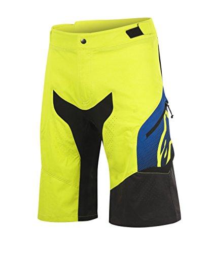 Alpinestars Herren Predator Shorts, Herren, Acid Yellow/Royal Blue