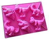 Joyeee Silikon Backform | Muffinform Backform für Muffins, Brownies, Schokolade, Kuchen, Gelee, Seife - Dinosaurier Silikonform für Kindergeburtstag, Abschiedsfeier, Kuchenverzierung