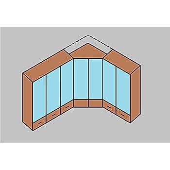 Germanica™ BREMEN 7-Door Modular Corner Wardrobes Bedroom Furniture Set in OAK & WHITE Colour Scheme[Including Full Assembly Service] MADE IN GERMANY