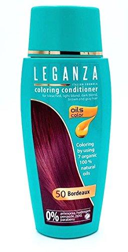 Balsamo Condizionatori Colorazione per Capelli Color 50 Bordó con 7 Oli Naturale Senza Ammoniaca e Parabeni