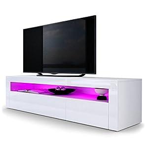 Vladon TV Stand Unit Valencia in White