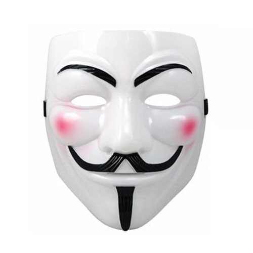 1 X ANONYMOUS V FOR VENDETTA GUY FAWKES FANCY DRESS COSTUME FACE MASK YELLOW CREAM