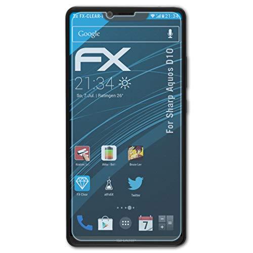 atFolix Schutzfolie kompatibel mit Sharp Aquos D10 Folie, ultraklare FX Bildschirmschutzfolie (3X)