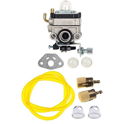 Honda Mantis Tiller (OuyFilters Carburetor Carb with Primer Bulb Gasket Fuel Line Filter for Honda GX31 GX22 FG100 Little Wonder Mantis Tiller HHE31C HHT31S UMK431 UMK431K1 String Trimmer Brush Cutter)