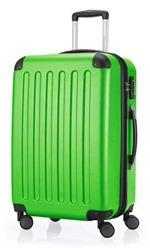 HAUPTSTADTKOFFER - Spree - 2er Koffer-Set Hartschale matt, TSA, 65 cm + 55cm, 82 Liter + 49 Liter, Schwarz Gelb/Apfelgrün