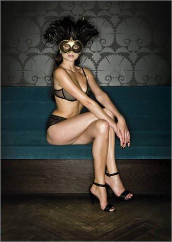 Acrylglasbild 30 x 40 cm: Femme Fatale (Tina) von Simon (Gaukler Kostüme)