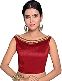 63bde005d95 STUDIO SHRINGAAR WOMEN S POLY RAW SILK EMBROIDERED READYMADE SAREE BLOUSE
