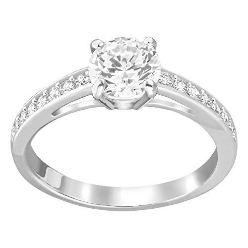 und Ring, rhodiniert , weiß , Q½, 58 ()