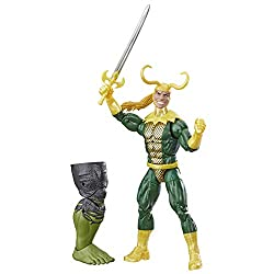 "Marvel Legends Series Loki 6"" Collectible Comics Action Figure Toy for Ages 6 & Up with Accessory & Build-A-Figurepiece"