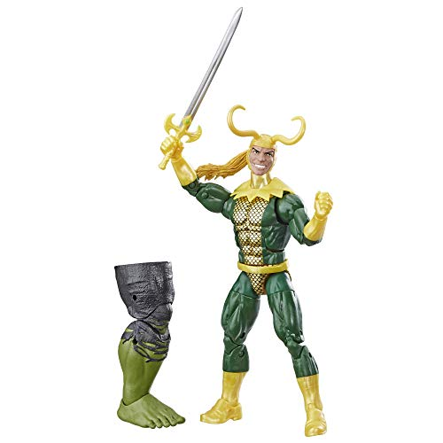 """Marvel Legends Series Loki 6"""" Collectible Comics Action Figure Toy for Ages 6 & Up with Accessory & Build-A-Figurepiece"""