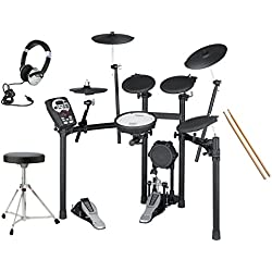 Roland V-Drums TD-11K Electronic Drum Kit With Stool, Bass Drum Pedal, Sticks, Headphones