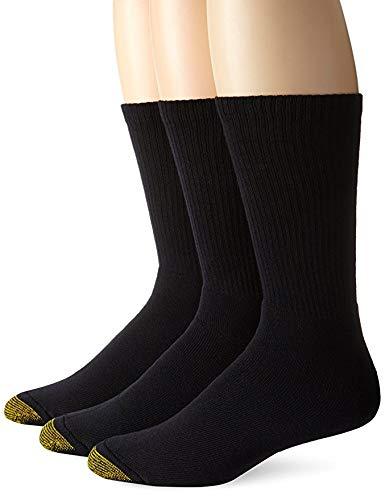 Gold Toe Herren 2306uptown Crew 3Pack Casual Socken, Schwarz -
