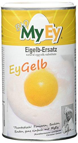 MyEy EyGelb, BIO Eigelb-Ersatz, vegan, sojafrei, cholesterinfrei, 2er Pack (2 x 200 g) - 2