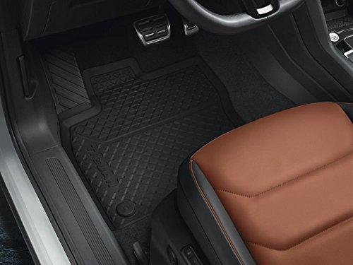 Preisvergleich Produktbild Original VW Gummi Fußmatten Tiguan II MQB Allwettermatten schwarz 2-teilig vorn 5NB061502 82V