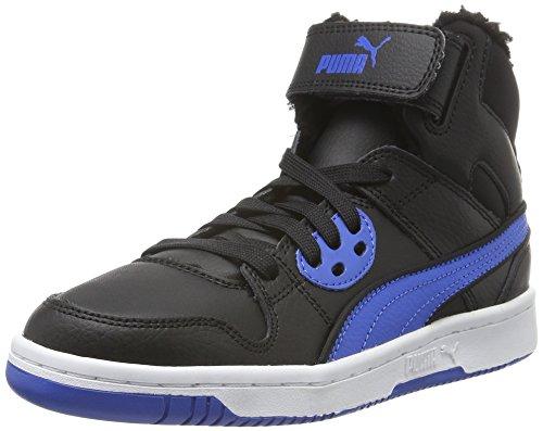 Puma Unisex-Kinder Rebound Street Wtr Hohe Sneakers, Schwarz (Puma Black-Puma Royal 04), 38 EU