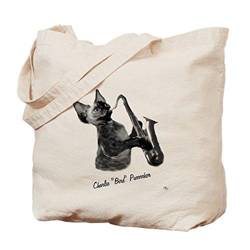 CafePress–Charlie purrrker–Leinwand Natur Tasche, Reinigungstuch Einkaufstasche Tote S khaki