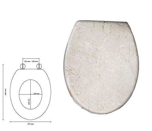 takestop Universal-WC Effekt Marmor elfenbein Sitz WC Tasse Deko für Bad WC Sitz Water Übertopf -