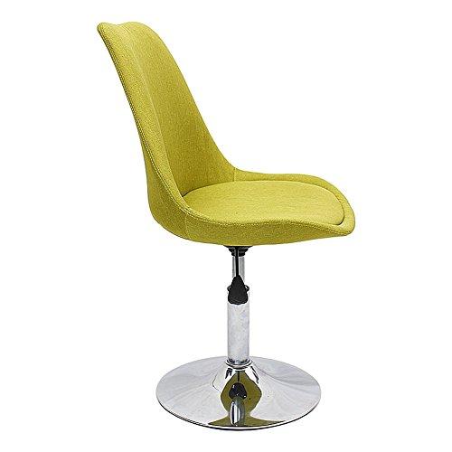 Mena Uk Tabouret à la maison traditionnel de chaise d'ordinateur, taille réglable 40-50 de siège, capacité maximum de poids 135kg (Couleur : Fruit green, taille : 40 cm)