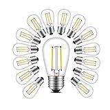 BRTLX E27 Ampoule LED Filament S14 2W 150LM IRC 80 2700K Blanc Chaud Equivalent à Ampoule Incandescente 20W non Dimmabile 360° Faisceau Lot de 15