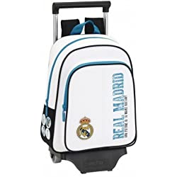 Safta - Mochila Infantil, Real Madrid con Carro, 34 cm, Multicolor