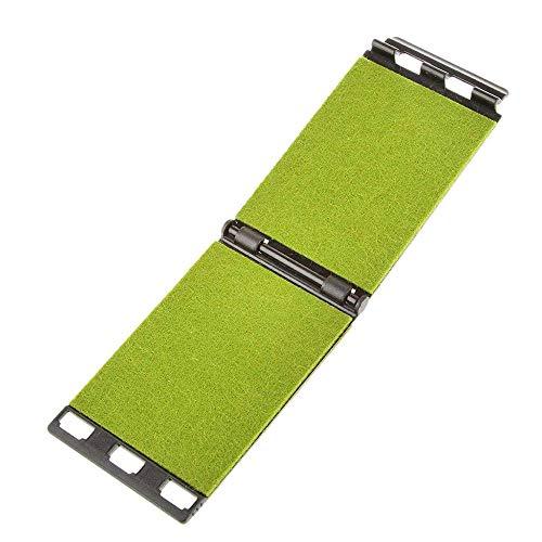 Aofocy Tragbarer Griffbrett-Reiniger Schneller Saiten-Reiniger Pflege Reinigungswerkzeug für elektrische und akustische Basssaiten Instrument (Grün)
