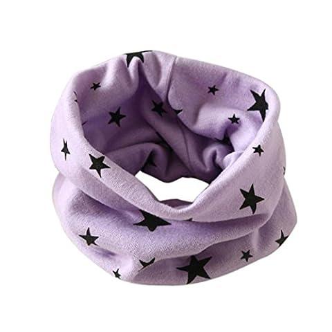 Tonsee® Automne Hiver Garçons Filles Collar bébé Echarpe Coton Ring O Echarpes (violet)