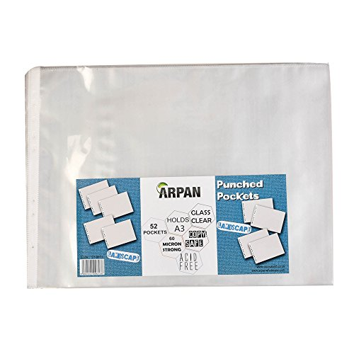 arpan-a3-landscape-strong-plastic-poly-pockets-wallet-sleeves-clear-finish-pack-of-52
