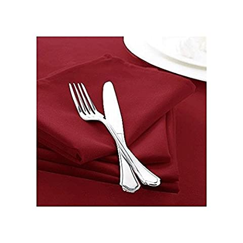 Classic Charlotte Thomas Forta Tablelinen Serviettes de table (lot de 4), Rouge bordeaux–50,8x