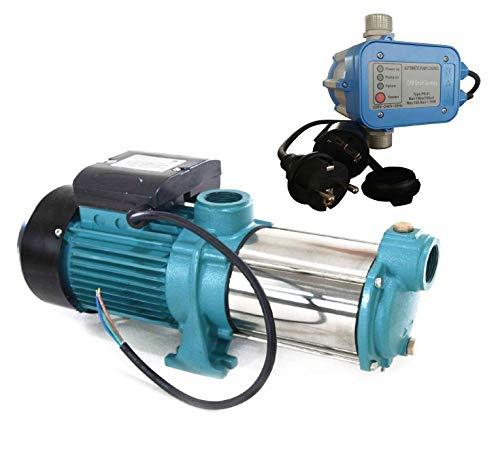 selpumpe MHI1800 INOX + Steuerung PS-01 Trockenlaufschutz - Leistung: 1800W - Spannung: 230 V / 50 Hz 9000 L/h - 160l/min. 5 bar. Laufräder aus Edelstahl. ()