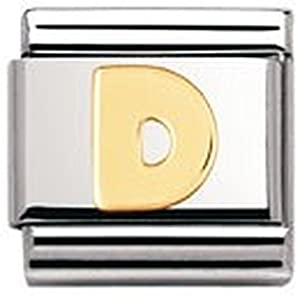 Nomination Composable Classic Buchstaben Edelstahl und 18K-Gold (D) 030101