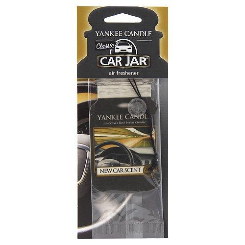 YANKEE CANDLE Classic Car Jar Profumo Fragranza Auto Nuovo, Cartone, Nero, 7.5x19.7x0.7 cm