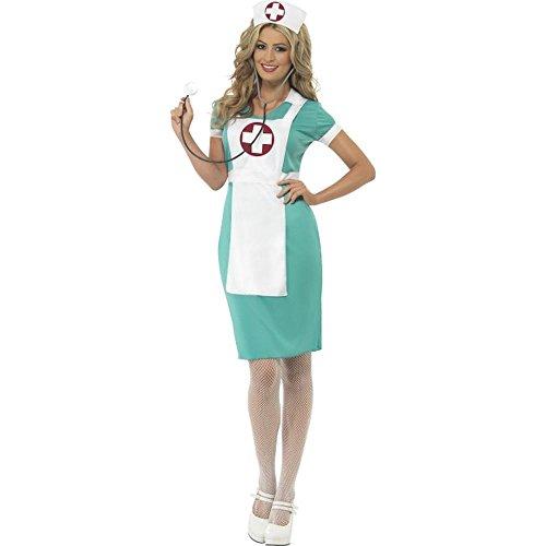 Unbekannt Damen Kostüm Krankenschwester OP-Schwester Karneval Fasching Gr.S (Halloween Krankenschwester Kostüm)