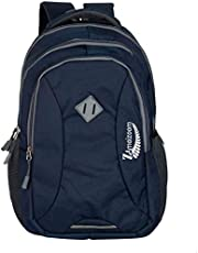 Amazing Bags 34 Ltrs Casual Waterproof Laptop Bag for Men Women Boys Girls/Office School College Teens & Students with Free RAIN Cover (18 Inch) (Dark Navy Blue)