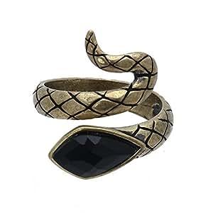 FACILLA® Bague Anneau Ouvert Serpent Alliage Pierre Synthétique Bijoux Femme Homme