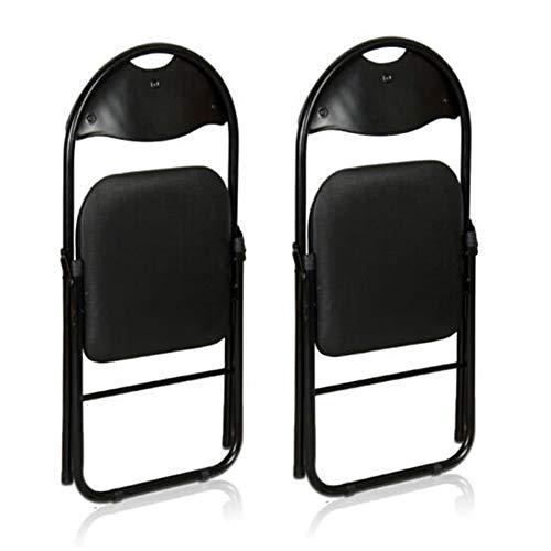 CJC Packung 2/4/6 Klappstühle Haushaltswaren Schreibtischstühle Schwarzer Rahmen Veranstaltungssaalbestuhlung Temporärer Sitz (Farbe : Schwarz, größe : 2 Chairs) - Pvc-dusche-badewanne-stuhl