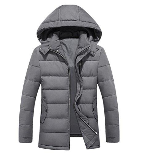 Zhhlinyuan Mens Herren Father's Teenagers Winter Thicken Long Sleeve Warm Padded Jacket Jacke Windbreaker Halloween Gift Big Tall Kingsize 9XL (Big And Jacke Kingsize-mens Tall)
