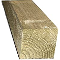"""Ruby 3"""" x 3"""" (75mm) Pressure Treated Wooden Gate Fence Post 1.8m - Various Pack Sizes (2)"""